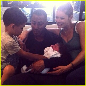 Doutzen Kroes & Husband Sunnery James Welcome Baby Girl Myllena Mae - See the First Family Photo!