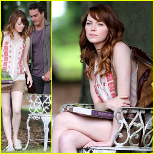Emma Stone & Joaquin Phoenix Enjoy Little Park Date for New Untitled Woody Allen Film