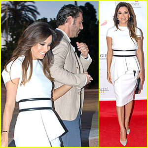 Eva Longoria & Jose Antonio Baston Dress Up For Global Gift Party