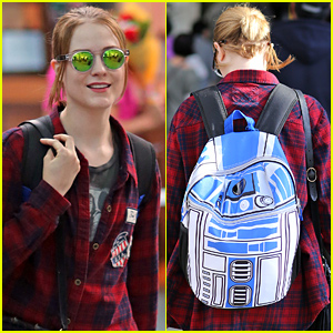 Evan Rachel Wood Has the Coolest Backpack Ever Because It Looks Like R2D2!