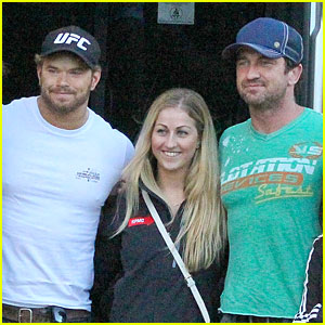 Gerard Butler & Kellan Lutz Hang Out After FIFA World Cup Final