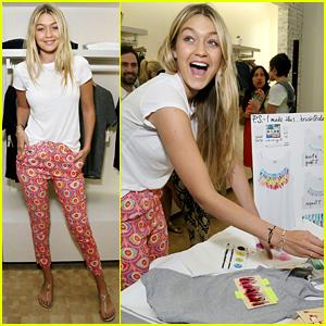 Model Gigi Hadid Creates a Signature 'Hadid' Tank at Splendid Event!