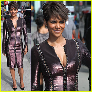 Halle Berry Shows Some Cleavage at 'Letterman'!