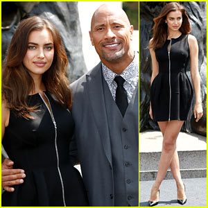 Irina Shayk & Dwayne 'The Rock' Johnson Begin Their 'Hercules' Press Tour Looking So Classy!