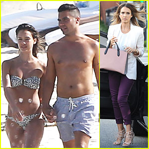 Bikini-Clad Jessica Alba & Shirtless Cash Warren Show Off Impressive Bodies in Mexico!