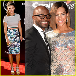Jessica Szohr & Taye Diggs Step Out for Sports' Biggest Night at ESPYs 2014
