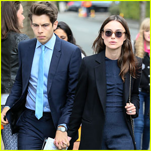 Keira Knightley & Hubby James Righton Check Out Wimbledon