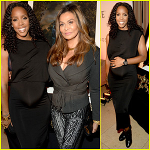Kelly Rowland Shows Off Her Growing Baby Bump with Tina Knowles at Kehinde Wiley Dinner!