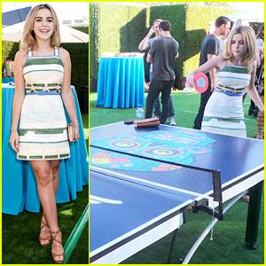 Kiernan Shipka Hits Creative Recreation's Ping Pong Tables at Just Jared's Summer Fiesta - In Heels!