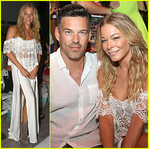 LeAnn Rimes Sweats at Luli Fama Fashion Show With Eddie Cibrian By Her Side