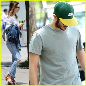 Leighton Meester & Adam Brody Separate for Sunday Outings