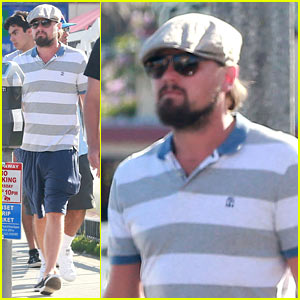 Leonardo DiCaprio Sports Scruffy Beard While Hanging with Pals