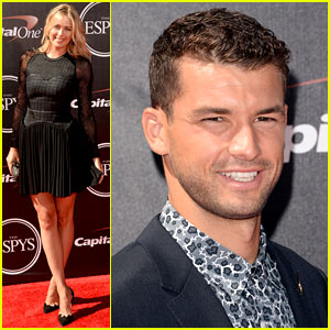 Maria Sharapova & Boyfriend Grigor Dimitrov Walk ESPYs Red Carpet Separately