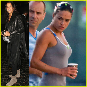 Michelle Rodriguez Gets Back to Work on 'Fast & Furious 7' After Steamy Vacation with Zac Efron