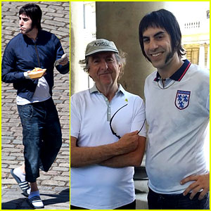 Sacha Baron Cohen Gets Into Character for 'Grimsby' - First Pics