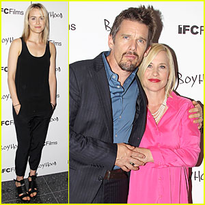 Taylor Schilling Supports Ethan Hawke's 'Boyhood' in NYC!