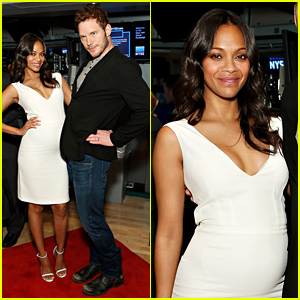Pregnant Zoe Saldana & Chris Pratt Strike the Sassiest Pose Ever at New York Stock Exchange!