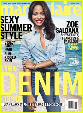 Zoe Saldana Talks Relationships with 'Marie Claire' Mag: 'If You're Not Happy with a Person, Leave'
