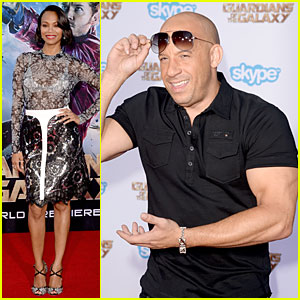 Zoe Saldana Shows Off White Bra at 'Guardians of the Galaxy' Premiere!