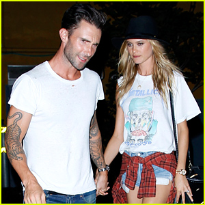 Newlyweds Adam Levine & Behati Prinsloo Hold Hands For Post-Wedding Dinner Date!