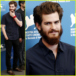Andrew Garfield Strokes His Big Bushy Beard at the '99 Homes' Photo Call