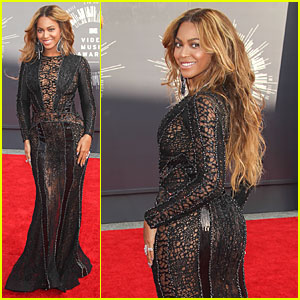 Beyonce's Sheer Black Dress Turns Heads at MTV VMAs 2014