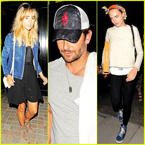 Bradley Cooper Grabs Dinner with Suki Waterhouse & Cara Delevingne!