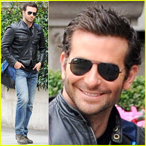 Bradley Cooper Flashes His Mega-Watt Smile on Movie Set