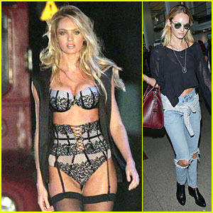 Victoria's Secret Model Candice Swanepoel's Sexy Lingerie Body Is a Sight to See in L.A.