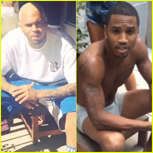 Chris Brown & Trey Songz Take on the ALS Ice Bucket Challenge After Announcing Joint Tour - Watch Now!