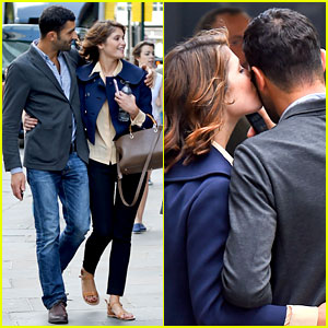 Gemma Arterton Gives New Mystery Boyfriend a Cute Kiss