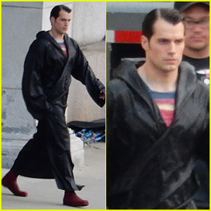 Henry Cavill Hides Superman Costume Under Robe on 'Batman V Superman' Set