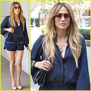 Jennifer Lopez Has Legs For Day After 'Maid in Manhattan' Reunion with Tyler Posey
