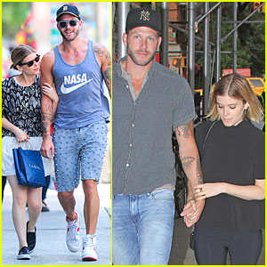 Kate Mara & Stylist Johnny Wujek Hold Hands In NYC