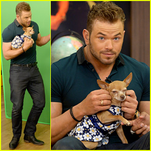 Kellan Lutz Cuddling a Puppy is the Cutest Thing You'll See All Day