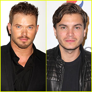 Kellan Lutz & Emile Hirsch Are the Men in Black at SLS Las Vegas Opening