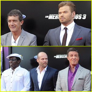 Kellan Lutz & Jason Statham Suit Up in Spain for 'Expendables 3'