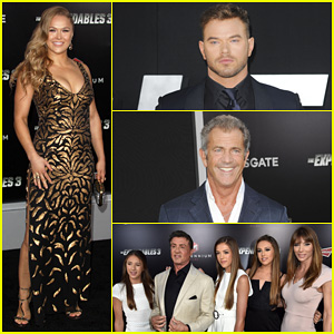 Kellan Lutz & Mel Gibson Suit Up for 'The Expendables 3' Hollywood Premiere!