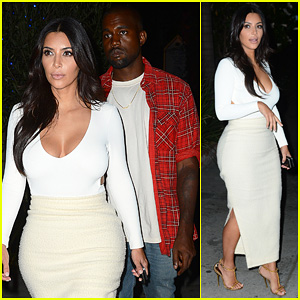 Kim Kardashian & Kanye West Step Out for Romantic Date Night at The Little Door!