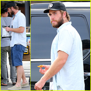 Liam Hemsworth Rips Open a Bag of Chips on His Way Home From Grocery Shopping