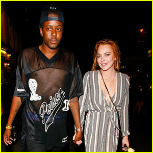 Lindsay Lohan Holds Hands with Blogger Vas J Morgan