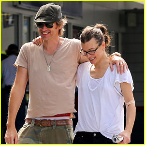 Milla Jovovich & Hubby Paul W.S. Anderson Look So in Love