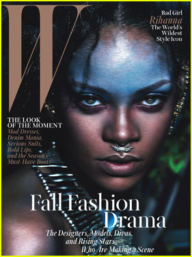 Wild & Fierce Rihanna Sports Nose Ring on 'W' Magazine September 2014 Cover