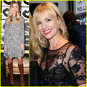 Rosie Huntington-Whiteley & January Jones Look Amazing at Violet Grey Event