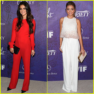 Selena Gomez Hangs with Sarah Hyland at Variety Emmys Party!