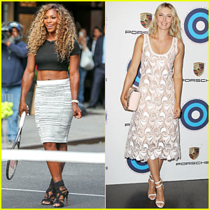 Serena Williams & Maria Sharapova Glam Up Before the US Open