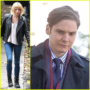 Sienna Miller & Clean Shaven Daniel Bruhl Get Into Character For 'Adam Jones'