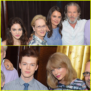 Taylor Swift, Katie Holmes, & 'The Giver' Cast Get Together at the Film's Press Conference!
