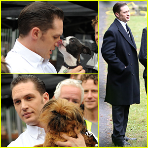 Tom Hardy Gets So Much Puppy Lovin' on Set - See the Adorable Pics!