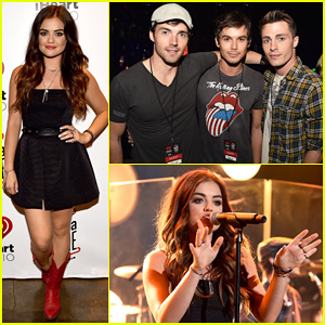 Lucy Hale Gets Support from Ian Harding, Tyler Blackburn & Colton Haynes at her iHeartRadio Concert!
